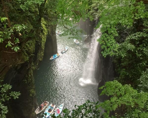 高千穂峡のボート